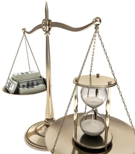 time vs money scales