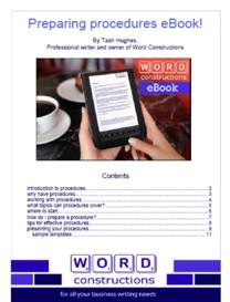 Preparing procedures ebook cover